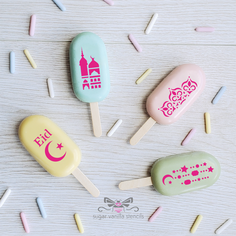 """""""Mosque"""" Eid Cakesicle Stencil Set #4 - SMALL"""