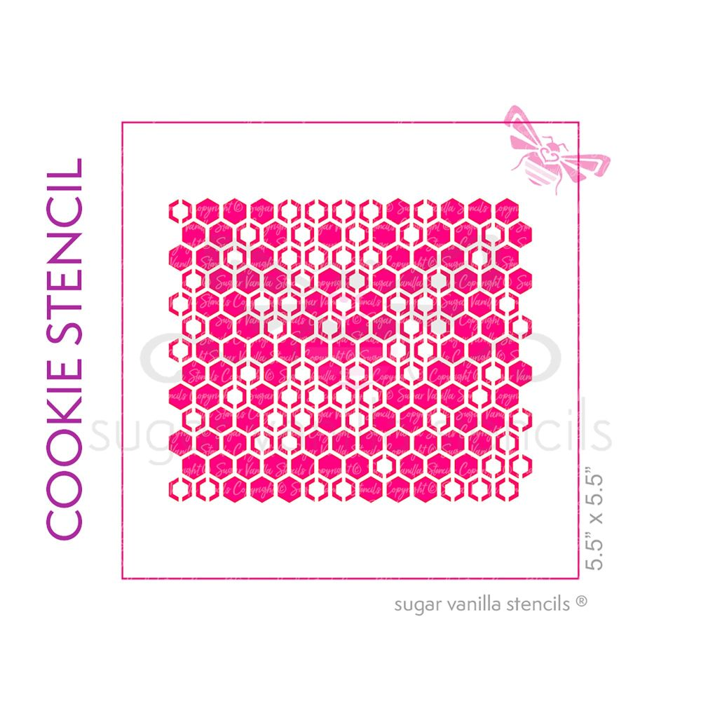Honeycomb Cookie Stencil - Small