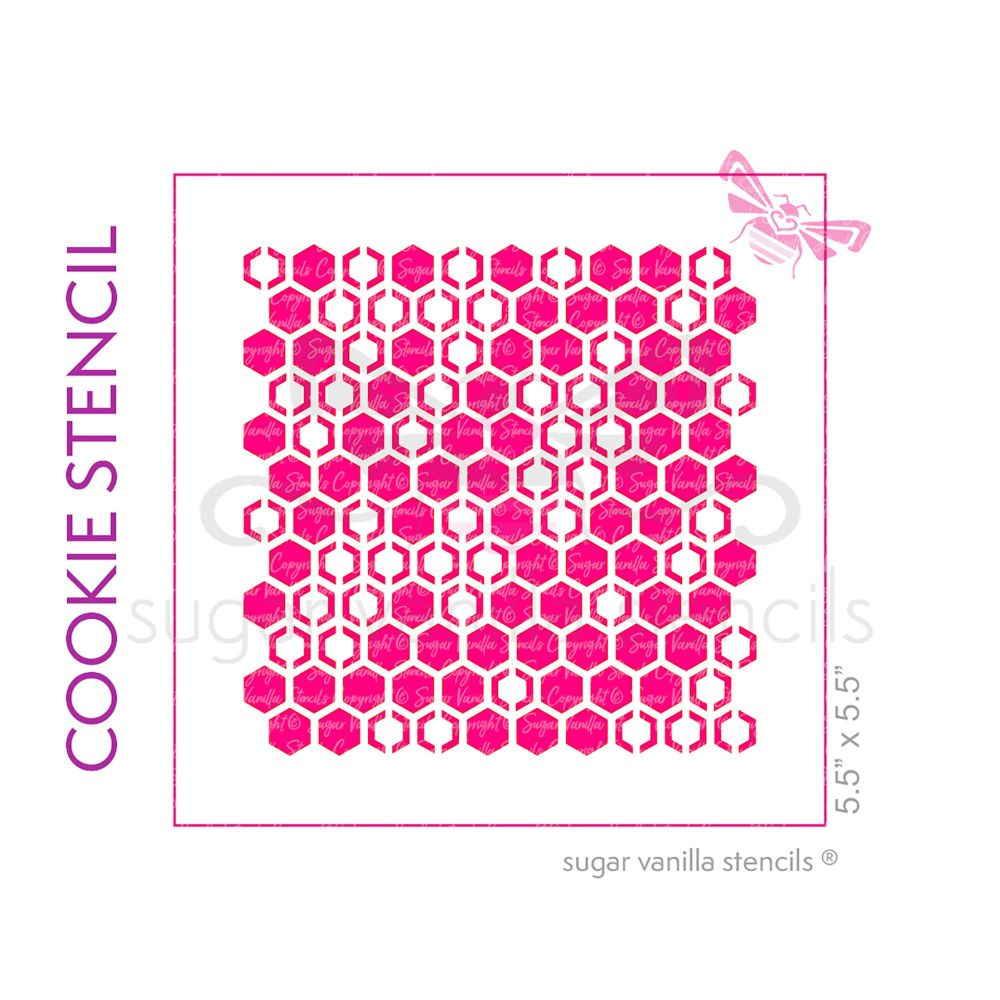 Honeycomb Cookie Stencil - Medium