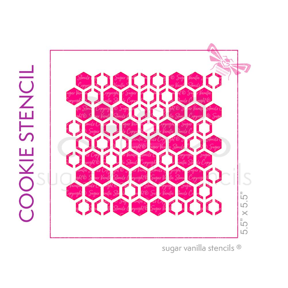 Honeycomb Cookie Stencil - Large