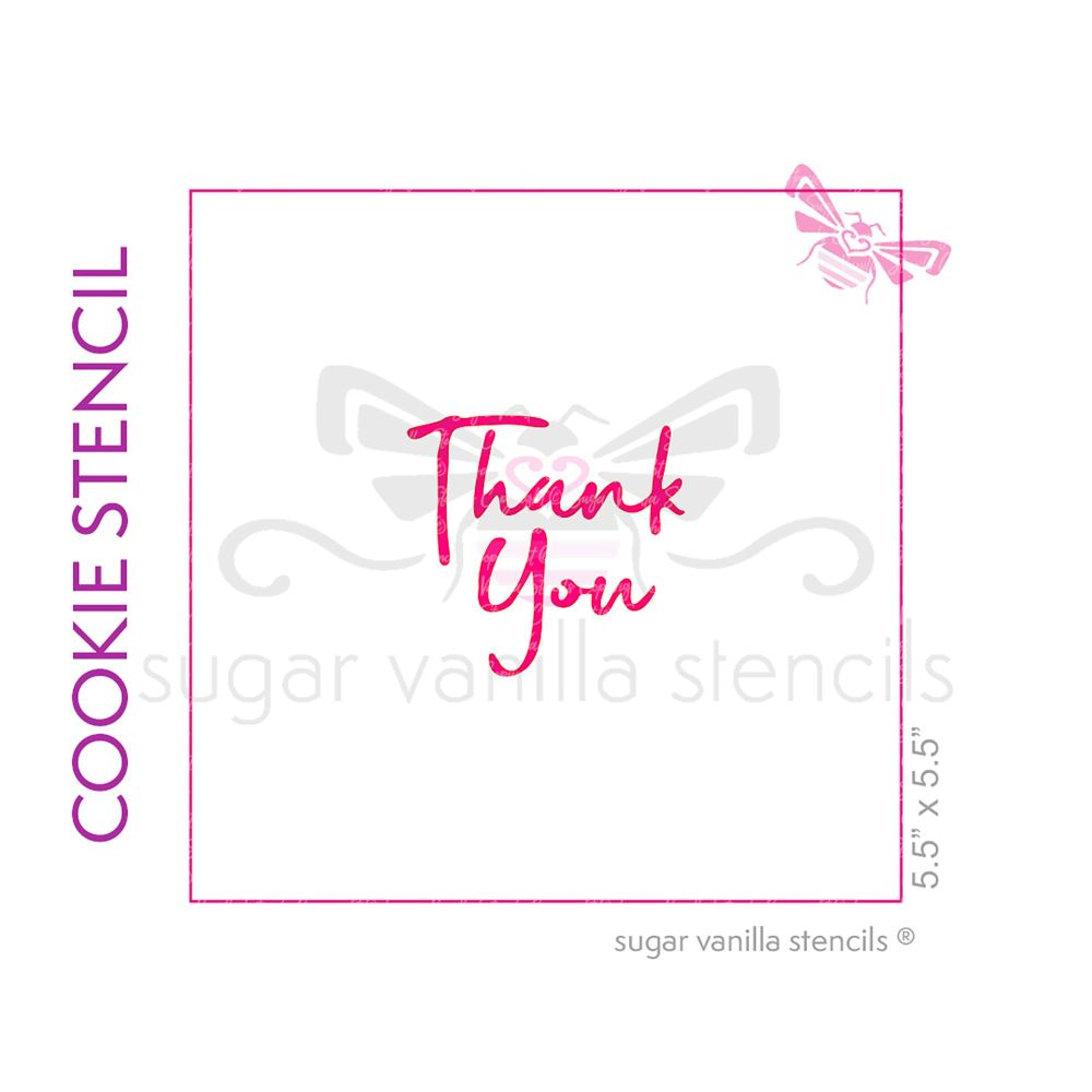 Thank You Cookie Stencil