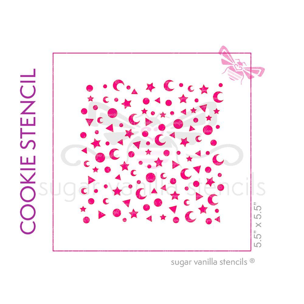 Magical Sprinkles #2 Cookie Stencil - Large Motifs