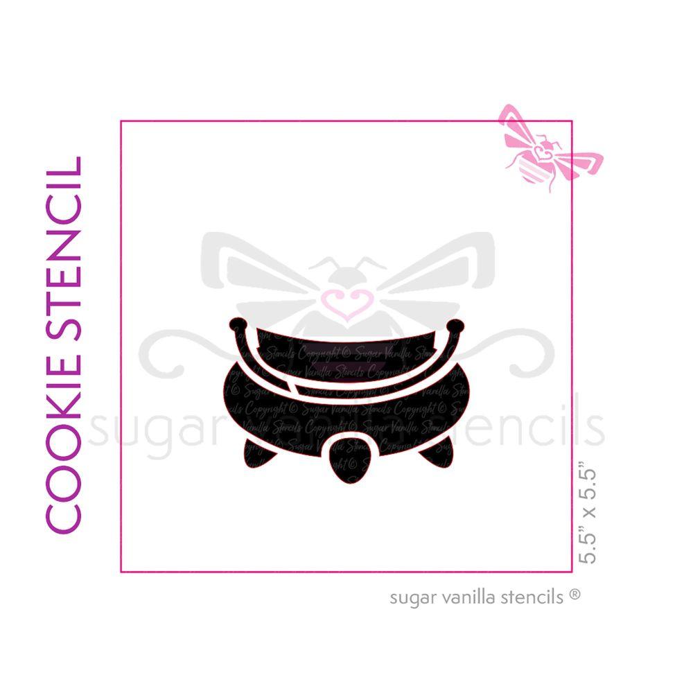 Cauldron Cookie Stencil 4 - Extra Large