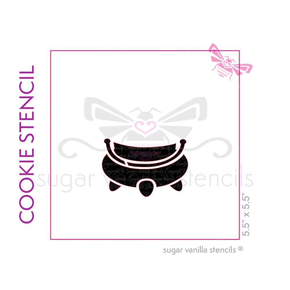 Cauldron Cookie Stencil 3 - Large