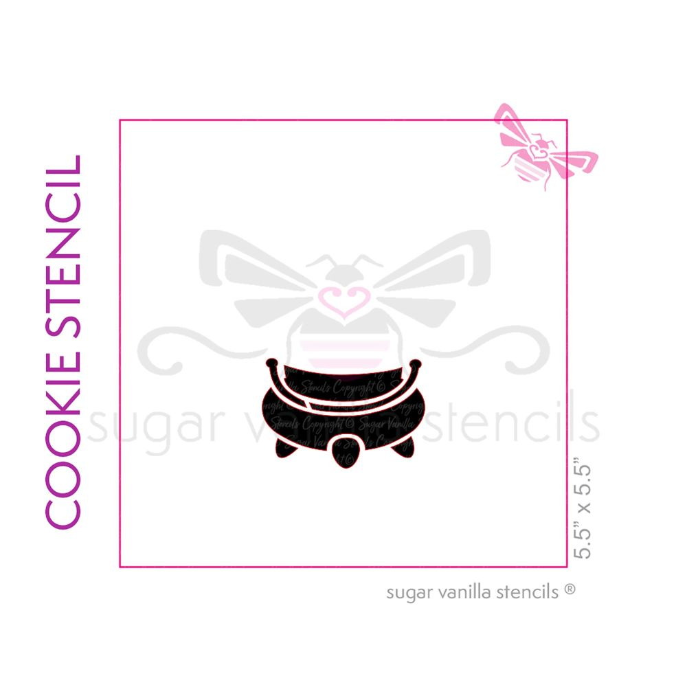 Cauldron Cookie Stencil 2 - Medium