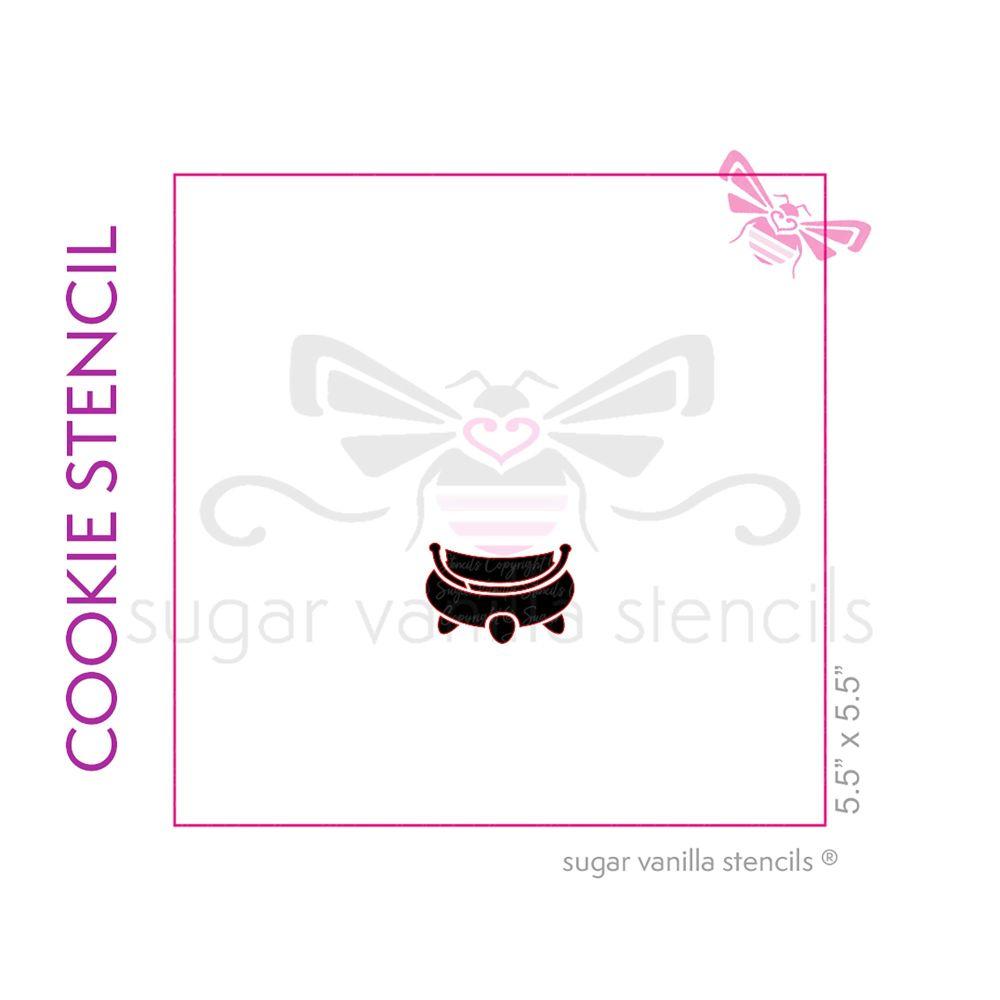 Cauldron Cookie Stencil 1 - Small