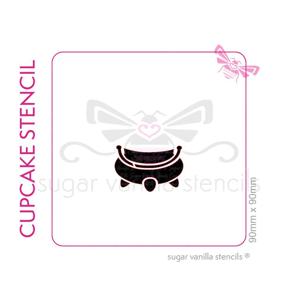 Cauldron Cupcake Stencil - Small