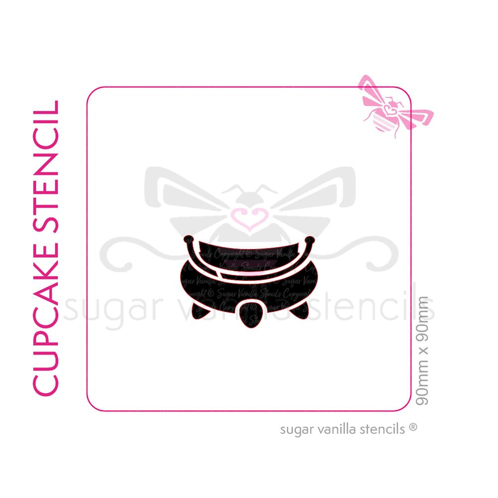 Cauldron Cupcake Stencil - Medium