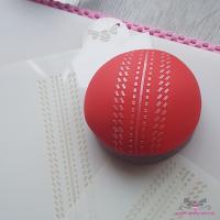 Cricket Ball Cupcake Stencil