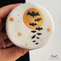 Moon & Bats Double Cupcake Stencil Set