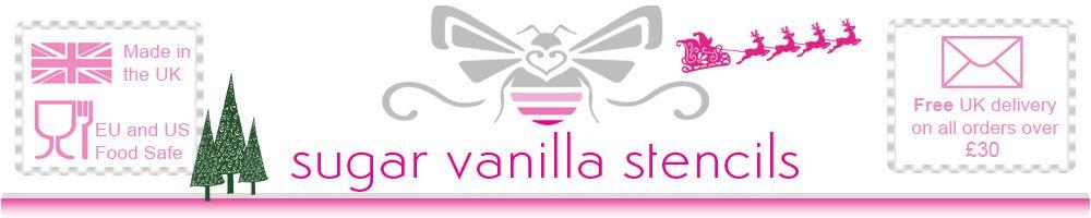 Sugar Vanilla Stencils, site logo.