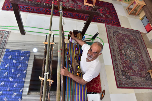 Traditional Weaver in Bahrain