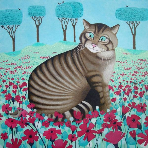 a painting of a wildcat by scottish artist ailsa black