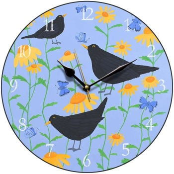 """Blackbirds in Bloom"" clock"