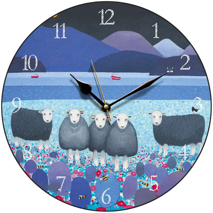 Round Herdwick Sheep Clock