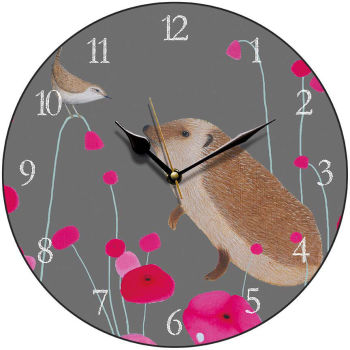 """Hedgehog Audience"" clock"