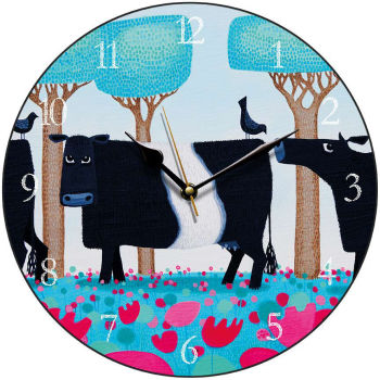 """Udderly Charming"" Belted Galloway clock"