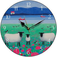 """Woollit Wanderers"" Black faced sheep clock"