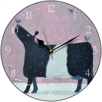 """Whispers of Robins"" Belted Galloway Clock"