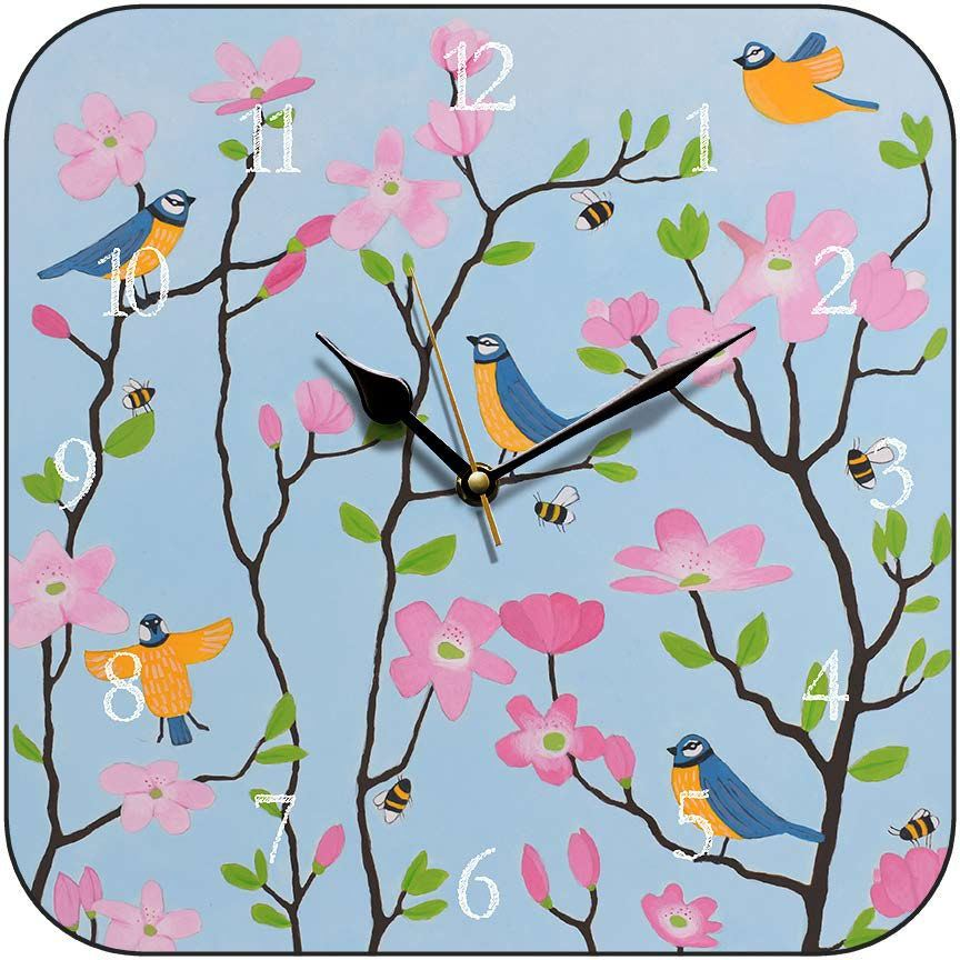 clock s bluetits and blossums