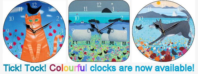 wwidget colourful clocks