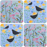 A Birds Set of 4 Mixed Coasters