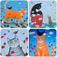 A Cats Set of 4 Mixed Coasters