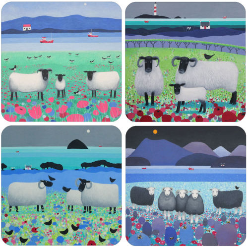 A Sheep Mixed Coaster Set of 4