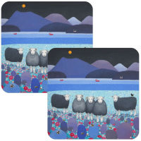 """Contemplation"" Herdwick Sheep Set of 2 Coasters"