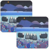Contemplation Herdwick Sheep Set of 2 Coasters