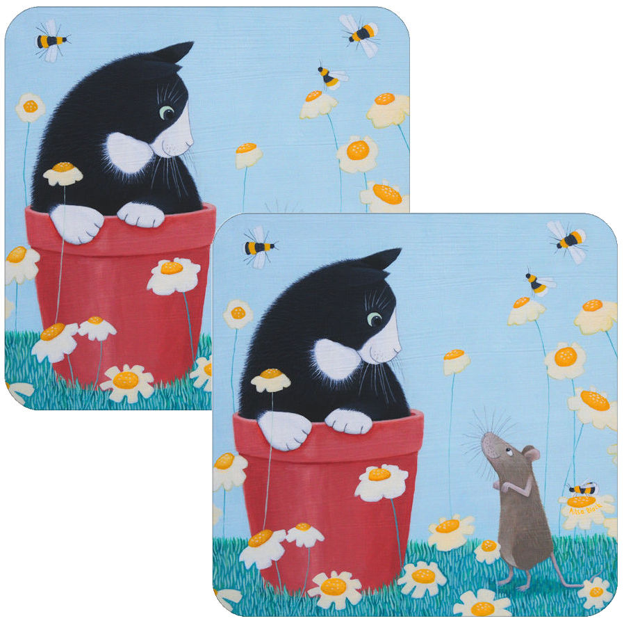Daisy Games Cat Coasters Set of 2