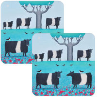 Field of Dreams Belted Galloway Set of 2 Coasters