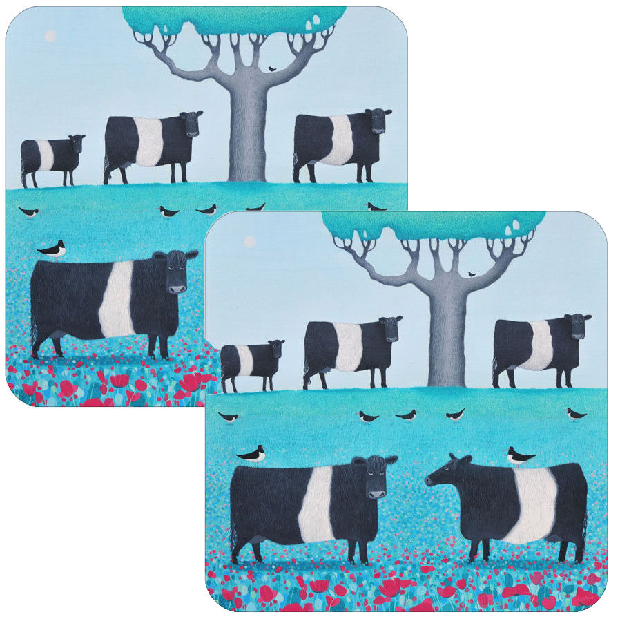 Field of Dreams Belted Galloway Coaster Set of 2