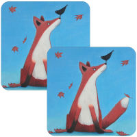 Foxy Tales Set of 2 Fox Coasters
