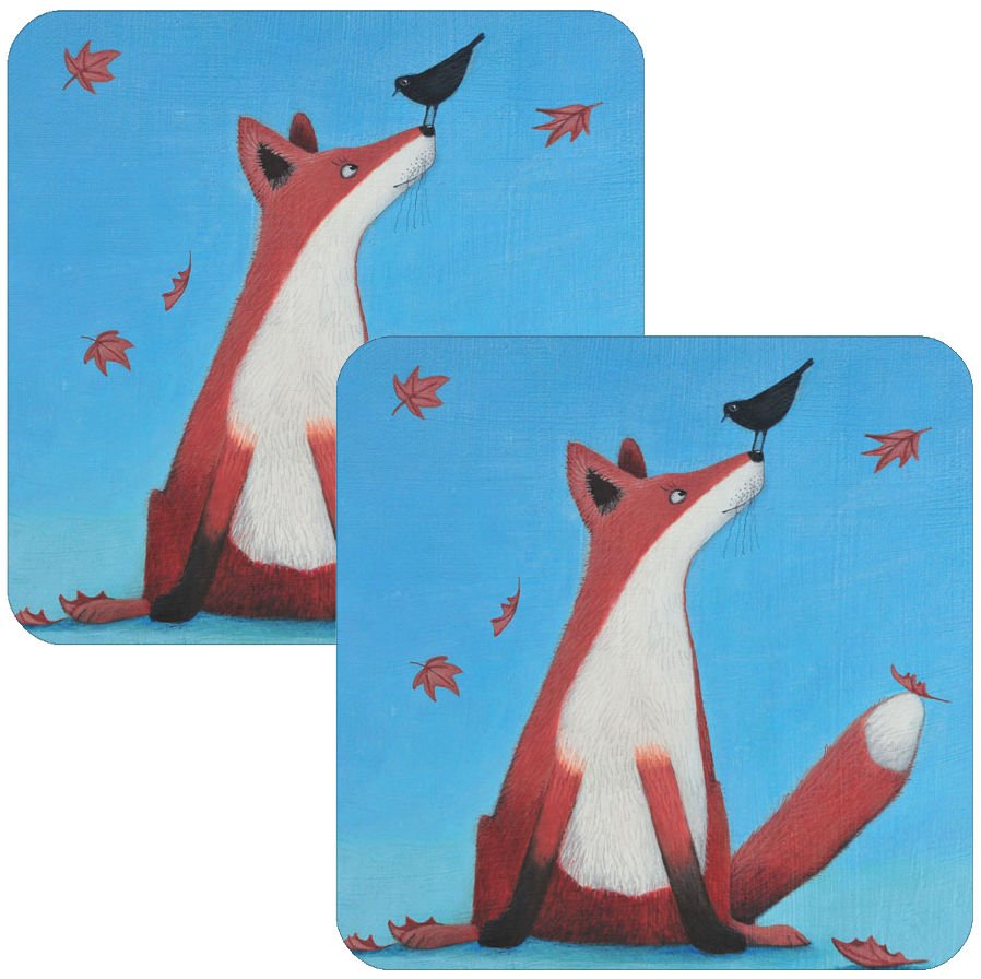 Foxy Tales Coaster Set of 2