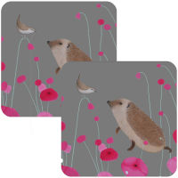 Hedgehog Audience Set of 2 Coasters