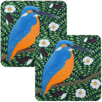 King of the Meadow Kingfisher Set of 2 Coasters