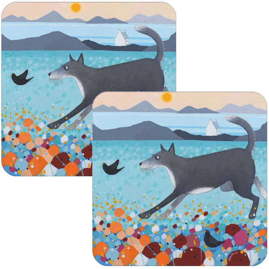 Up North Huskie Coaster Set of 2
