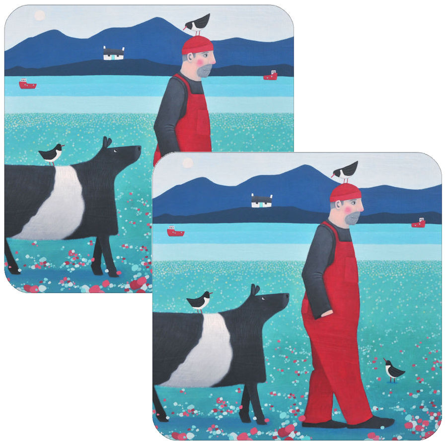Heading Home Set of 2 Coasters