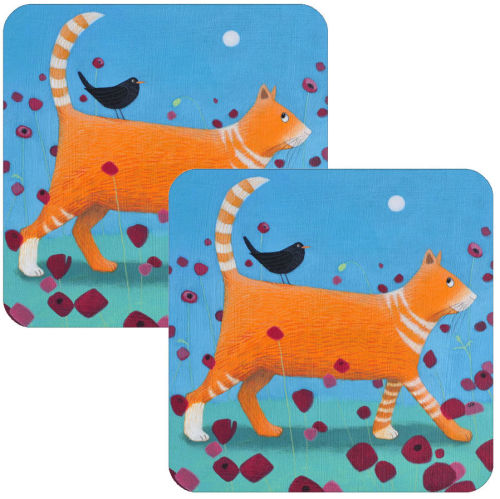 Day Tripper Set of 2 Cat Placemats