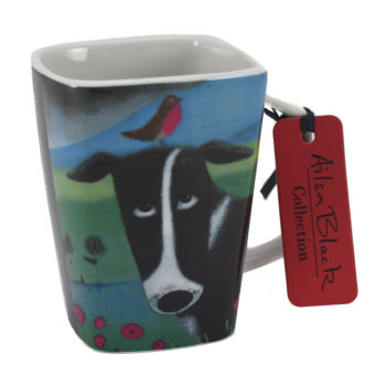"""Burd on the Bonce"" Collie Dog Porcelain Mug"