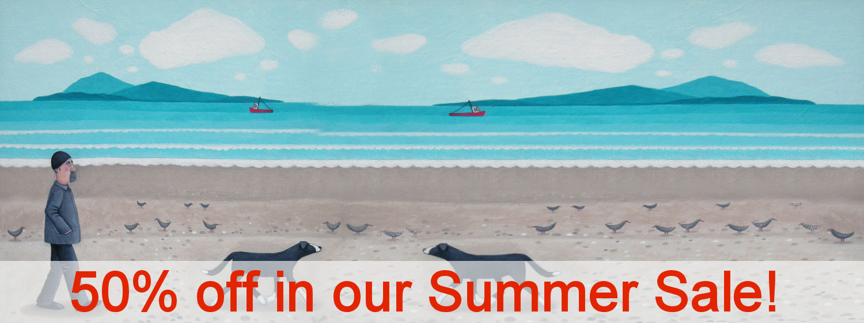 50% off summer sale banner