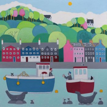 """The One That got Away"" mini print of Tobermory Bay"