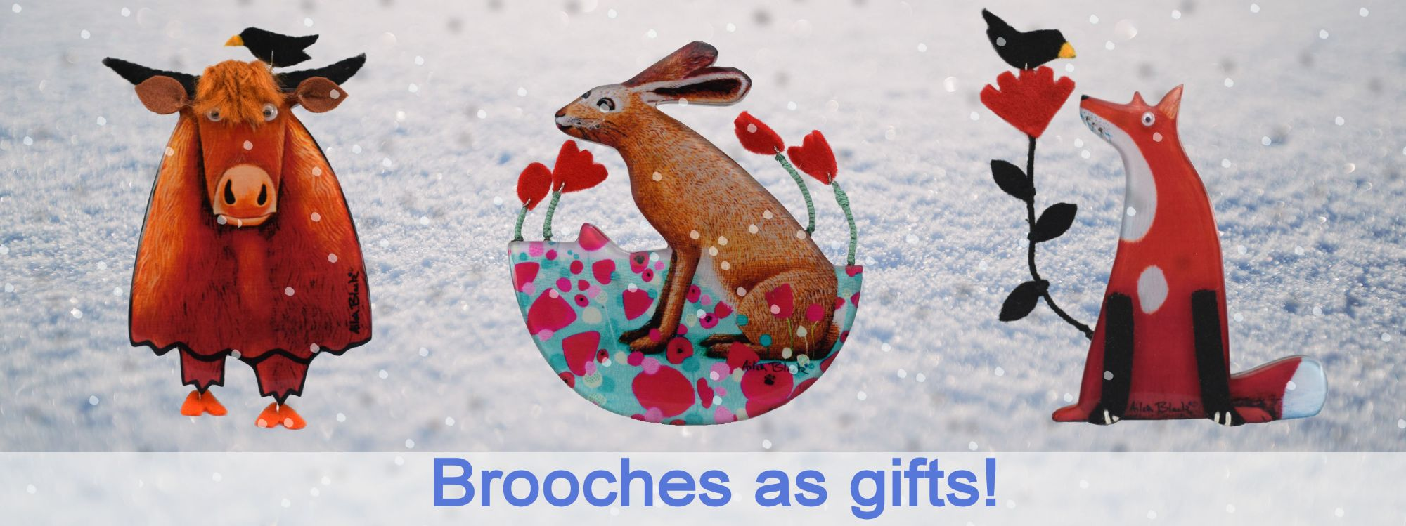 wwidget snow and brooches