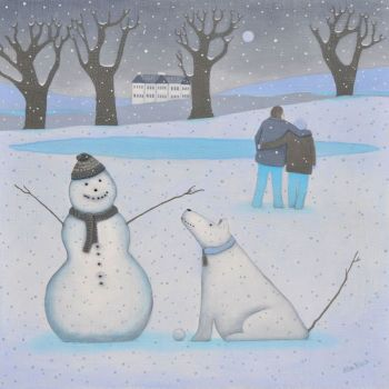 """A Dog Called Patience"" Medium giclee print of a snow dog"