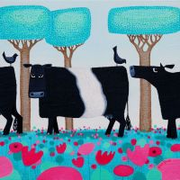 """Udderly Charming"" Belted galloway medium giclee print"