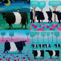 Belted Galloway pack of 8 Cards