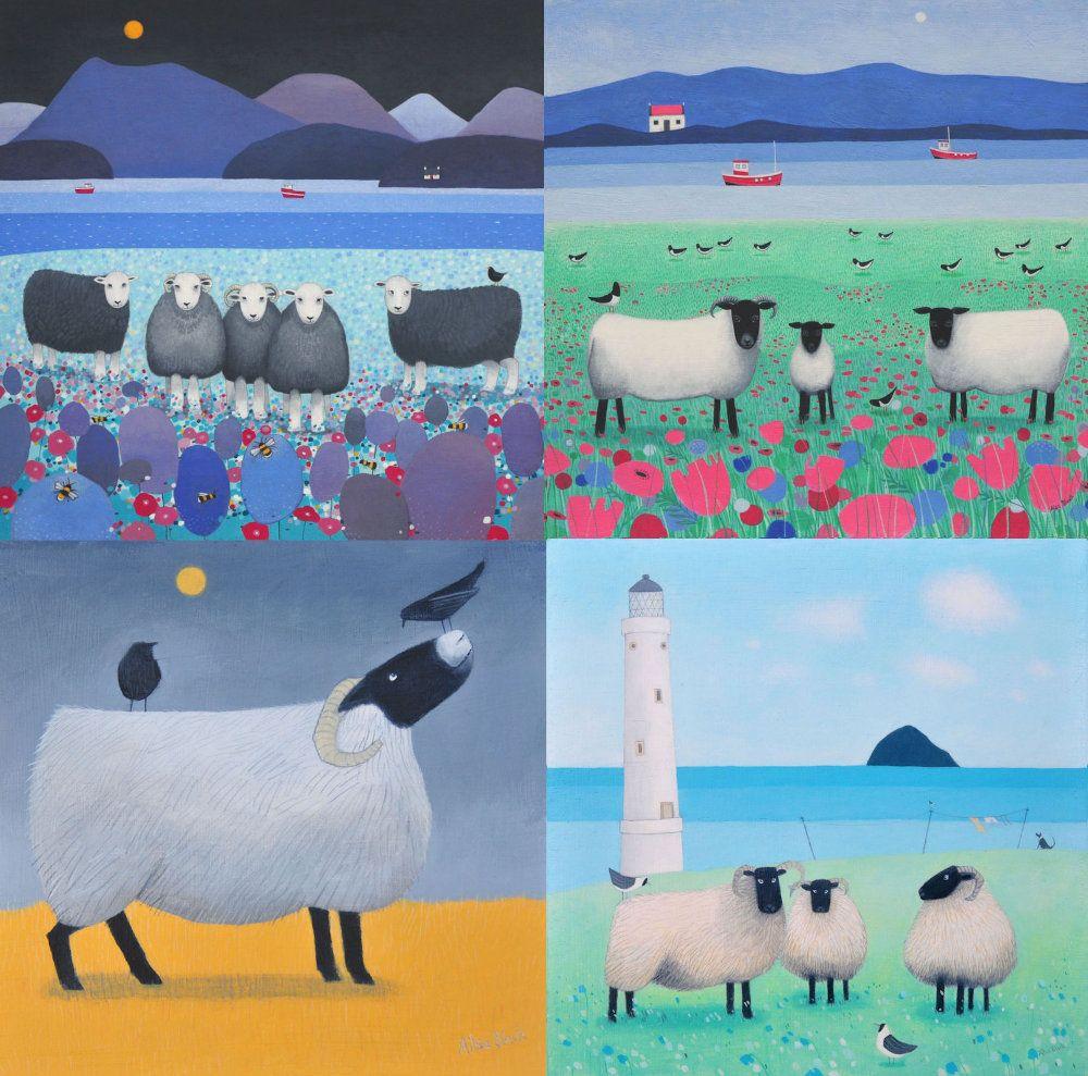 zA Pack of 8 Sheep Cards