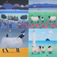 A Pack of 8 Sheep Cards
