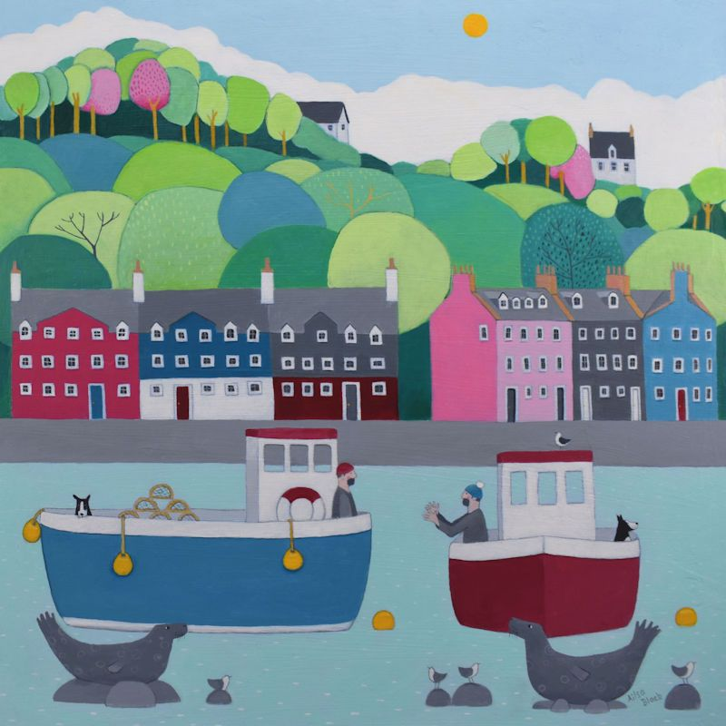 Tobermory colourful blank art card